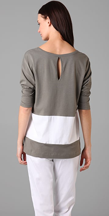 Theory Malroy Colorblock Top