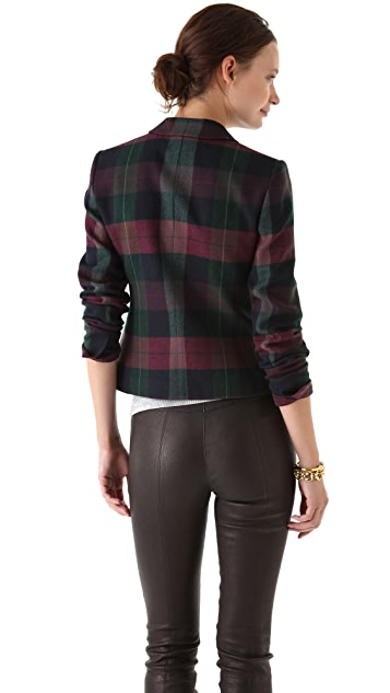 Theory Nillian Invictus Plaid Blazer