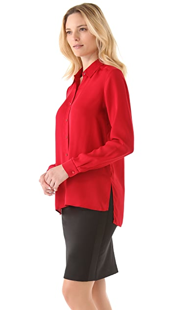 Theory Kissa Double Silk Shirt
