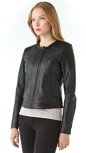 Theory Maisie Leather Jacket