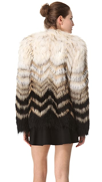 Theory Cassius Tersk Fur Jacket