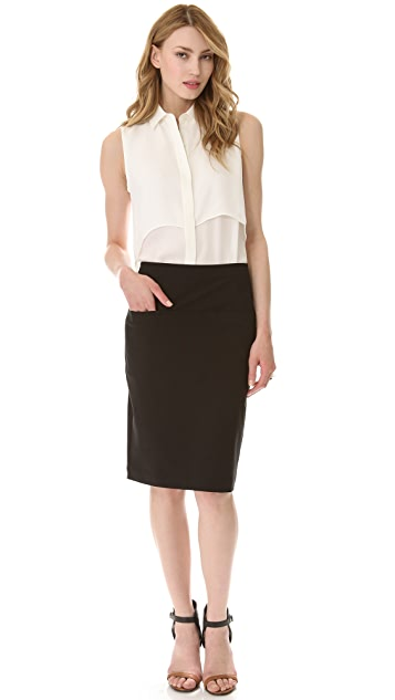 Theory Clea Knee Skirt