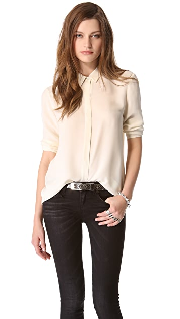 Theory Simra Blouse