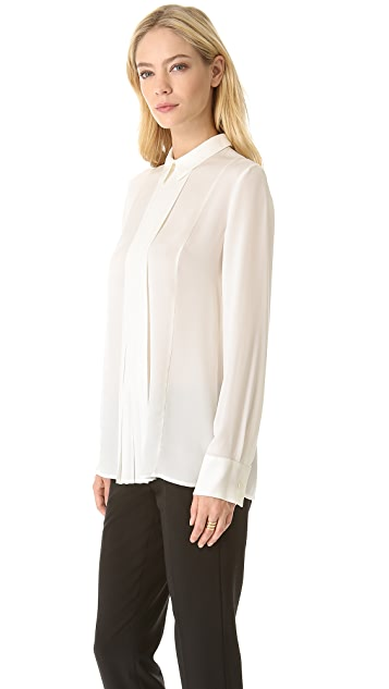 Theory Forta Long Sleeve Blouse
