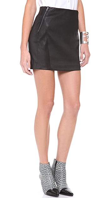Theory Keila Leather Pencil Skirt