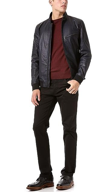 Theory Viek L Skyward Leather Jacket