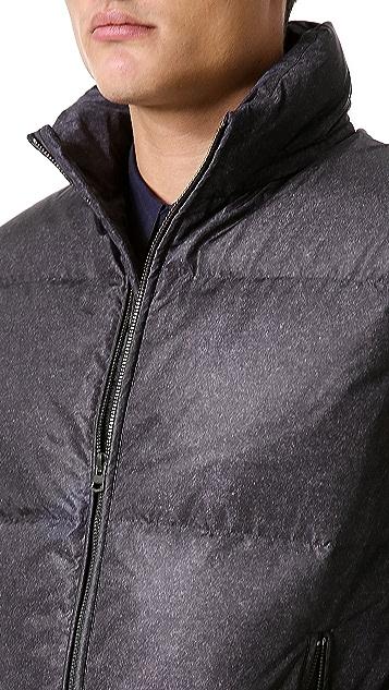 Theory Ahab Granite Print Puffer Vest
