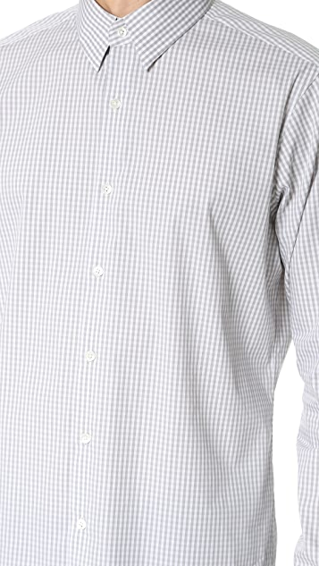Theory Sylvain Gingham Dress Shirt