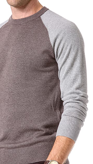 Theory Eston B Contrast Sleeve Sweater