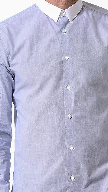 Theory Stephan CC Marling End on End Shirt