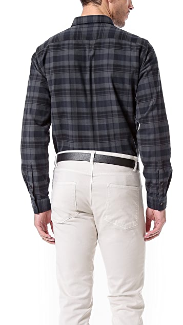 Theory Aumont Plaid Sport Shirt