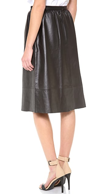 Theory Gelsey Leather Skirt
