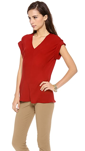 Theory Double Georgette Gyda Blouse