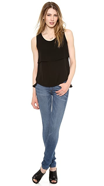 Theory Double Georgette Apala Blouse