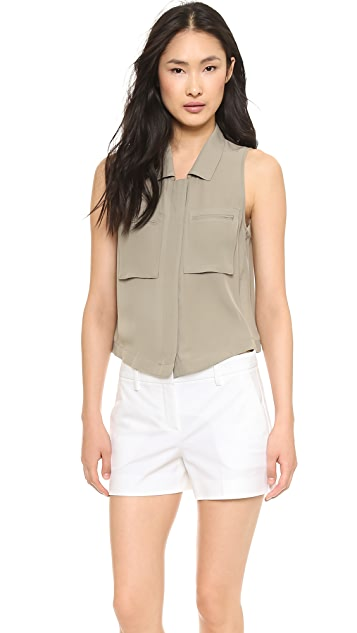 Theory Double Georgette Gemia Top