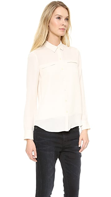 Theory Double Georgette Olava B Blouse
