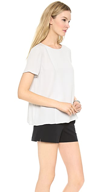 Theory Double Georgette Newnan W Blouse