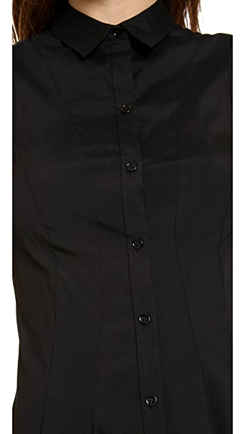 Theory Geniada Luxe Shirt Dress
