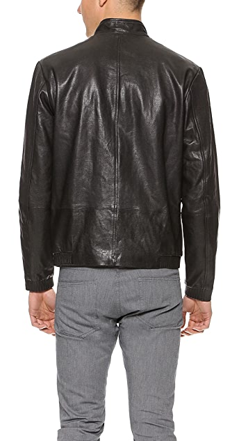 Theory Christo Leather Moto Jacket