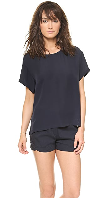 Theory Double Georgette Light NY W Top