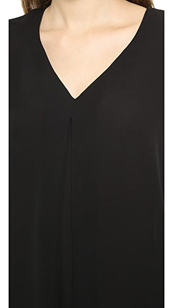 Theory Double Georgette Trent Blouse