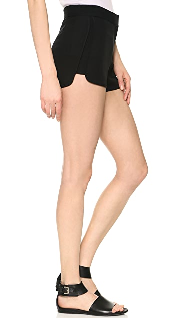Theory Double Georgette Nadrea Shorts