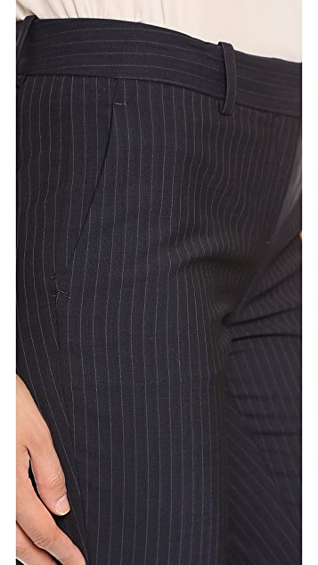 Theory Pinstripe Suit Louise Pants