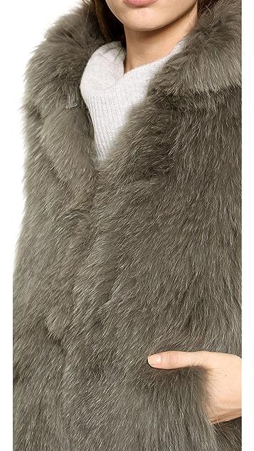Theory Georgian Hanalee Fur Vest