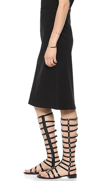 Theory Icon Midi Skirt