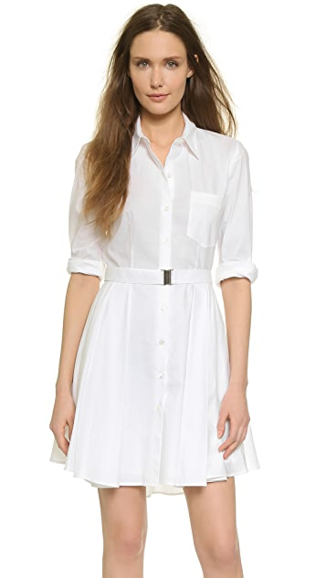 Theory Stretch Poplin Jalyis Shirtdress
