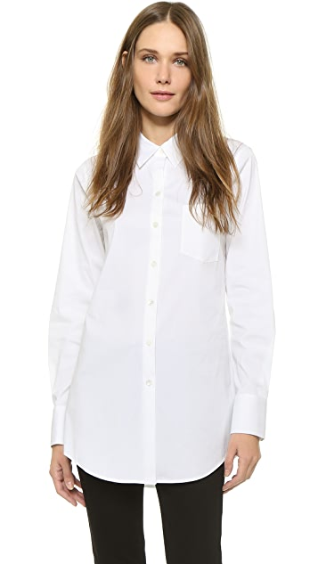 Theory Luxe Robertson Oversized Shirt