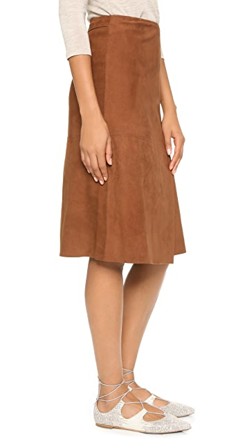 Theory Bonded Suede Gantrima Skirt