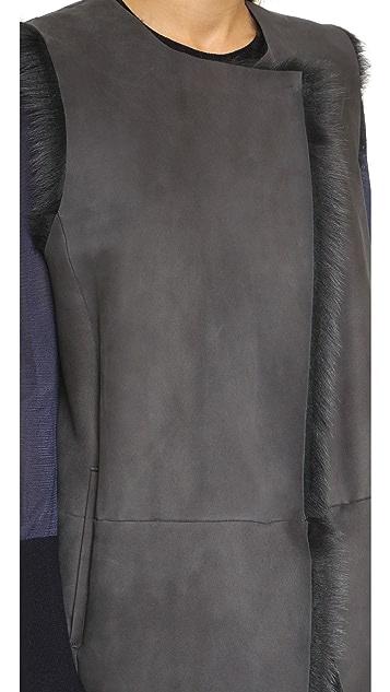 Theory Hollice Curako B Shearling Vest