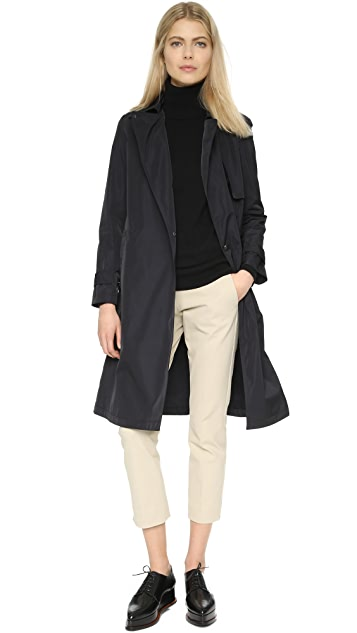 Theory Oaklane Tech Twill Trench