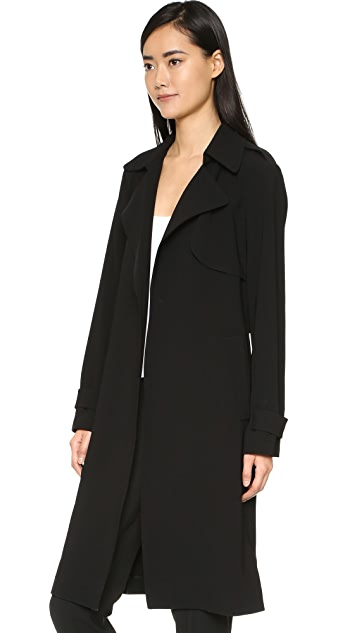 Theory Admiral Crepe Trench Coat