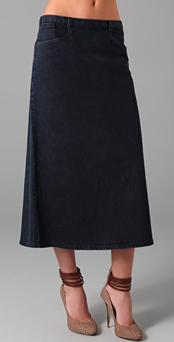 Theyskens' Theory Siro Denim Skirt