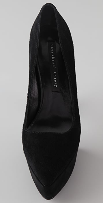 Theyskens' Theory Stil Suede Platform Pumps