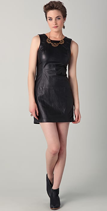 Theyskens' Theory Dhidas Leather Dress