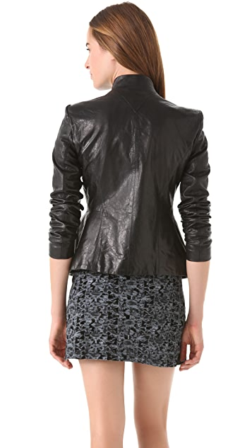 Theyskens' Theory Jabari Nurin Leather Jacket