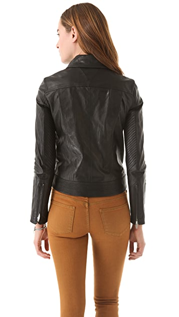 Theyskens' Theory Javda Norinto Leather Jacket