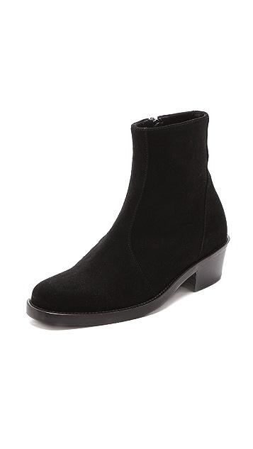 Theyskens' Theory Edie Low Heel Booties