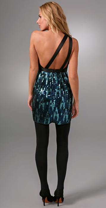 Thread Social Asymmetrical Sequin Dress