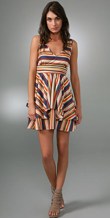 Thread Social Rainbow Stripe Dress