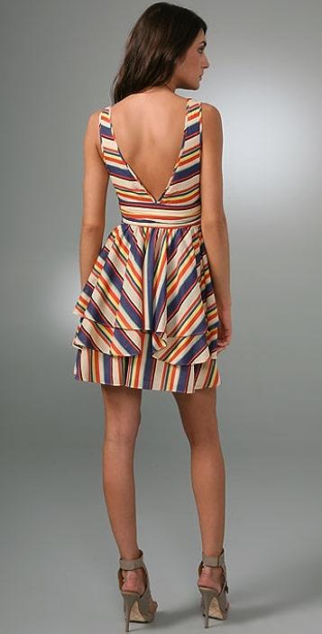 Thread Social Rainbow Stripe Dress