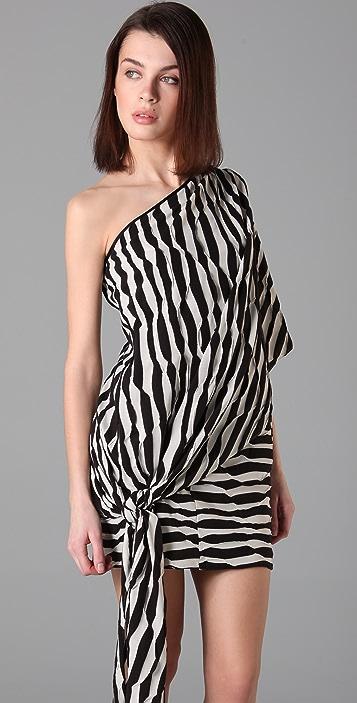 Thread Social One Shoulder Caftan Dress