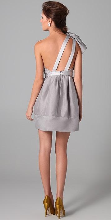 Thread Organza One Shoulder Dress