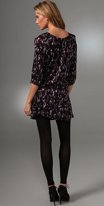 Three Dots Scoop Neck Mini Dress
