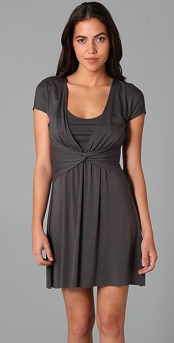 Three Dots Twist Front Dress
