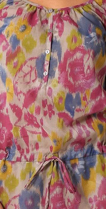 Three Dots Henley Tunic Dress