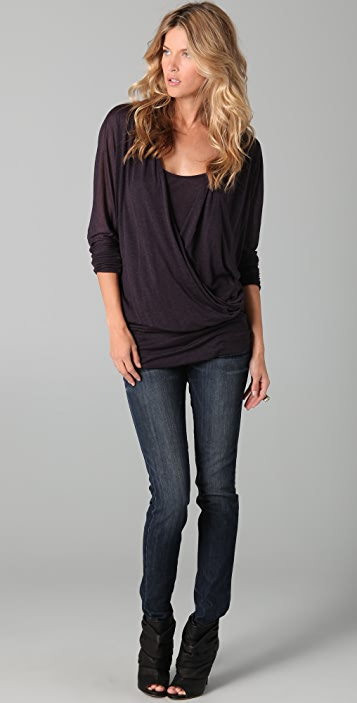 Three Dots Criss Cross Tunic